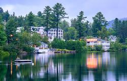 The 7 acre Mirror Lake Inn overlooks Mirror Lake in Lake Placid