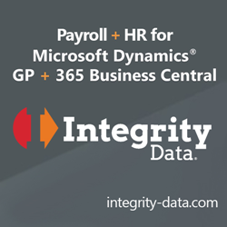 Integrity Data Payroll and HR Solutions for Microsoft Dynamics GP and Dynamics 365 Business Central