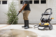 WORX 1600 psi Electric Pressure Washer cleans driveway