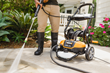 WORX 1600 psi Electric Pressure Washer cleans walkway