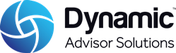 Dynamic Advisor Solutions blended blue sphere logo