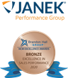 Janek Performance Group Wins Bronze at the 2020 Brandon Hall Group HCM Excellence Awards for Sales Performance