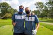 Jalen Rose (L) and David Jacoby (R) pose for a brotherly picture at the 10th Anniversary Jalen Rose Golf Classic presented by Platinum Equity at Detroit Golf Club on August 24, 2020. (Photo by Scott Legato/Getty Images for PGD Global)