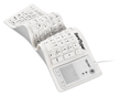 "SaniType ""Flex Touch"" Full-size Flexible Silicone Washable Keyboard with Touchpad and On/Off Switch White KBSTFC103STI-W"