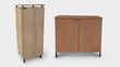 Image of air purification system PurifySpaces in both credenza and tower models