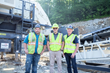 (L-R) are Aaron Fox, Powerscreen Crushing and Screening service manager; Hunter Kenny, Quarry manager, Allen Company; and Alan Coalter, president of Powerscreen Crushing and Screening.