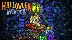 Halloween Window digital decoration