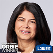 Super Global ORBIE Winner, Seemantini Godbole of Lowe's