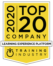 2020 Top 20 Learning Experience Platform List Badge