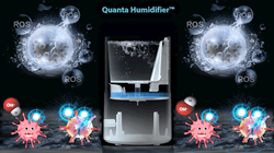 Quanta Humidifier air sterilizer that has a Hydroxyl Generator for inhabited areas