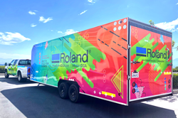 The Roland DGA Demo Days Roadshow trailer brings new devices to select dealer locations across the country for live product demonstrations.