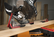 WORX 20V Power Share 7 ¼ in. Sliding Compound Miter Saw has built-in, hold-down lever that secures material throughout the cut, keeping hands away from blade.