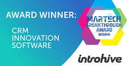 2020 MarTech Breakthrough Award Winner: Introhive wins CRM Innovation Software Award