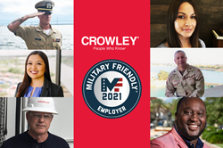 Crowley receives Military Friendly designation as employer.