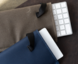 Dash Sleeve for Magic Keyboard and Dash Sleeve for Magic TrackPad —shown in brown ballistic nylon, and blue Forza material