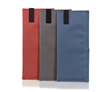 Three Forza fabric color options - red, coffee, and blue