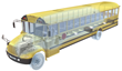School bus air filter, School bus HEPA-14 air filter, School bus COVID-19 air purfier