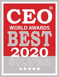 Logo for the Silver CEO World Award