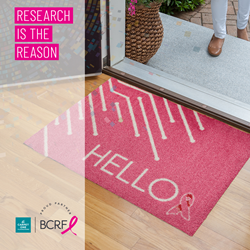 Carpet One pink hello welcome mat