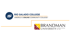 Logos for Brandman University and Rio Salado College