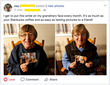 The Silver Post grandparent happy with gift