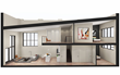 Interior rendering of a unit at Factory 243