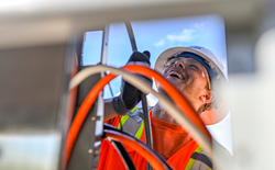 A WECA Electrical Apprentice Works and Learns on the Job