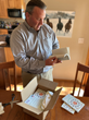 Dr. David Graham unboxes book order