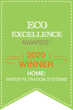 2020 Eco Excellence Awards winner's badge for Best Water Filtration System