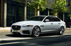 2020 Jaguar XF parked on the side of the road