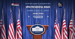Free and Equal Elections Foundation Open Presidential Debate Banner