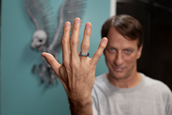 Tony Hawk wearing his signature Groove Ring.