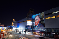 Architectural-grade LED GLAAM Media Glass featured at Yongsan Electronic Land, Seoul, South Korea