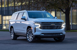 2021 Chevrolet Suburban going down the road