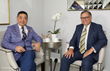 Joey Zhou with Broadcast Host Carlos Amezcua