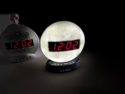 The Skull and Sonic Glow Moon clocks are extra-loud to wake you up