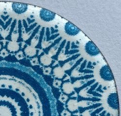 Enamelware designed by renowned artist Anne Dinan using the CerPrint True Blue printer.