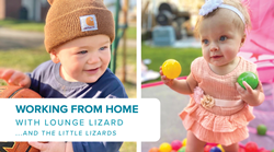 Lounge Lizard staff members enjoy working from home & spending more time with their children, Troy and Kaliana
