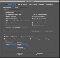 PDF to InDesign converter plug-in