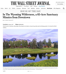 Cody Creek Sanctuary was featured as House of the Day in the Wall Street Journal