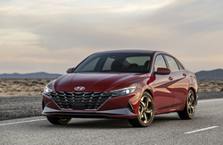 Red 2021 Hyundai Elantra