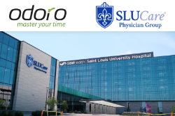 SLUCare Physician Group Building with Odoro Check-in Kiosks Inside