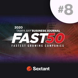 Sextant Marketing ranked #8 for Tampa Bay's fastest-growing businesses.