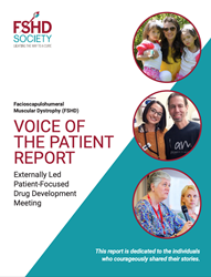FSH muscular dystrophy Voice of the Patient Report.