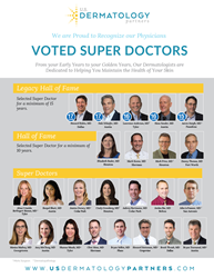 U.S. Dermatology Partners Physicians recognized in peer-nominated Texas Monthly Super Doctor award