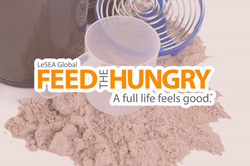 Makers Nutrition has donated over $30,000-worth of a chocolate-flavored immune health-supporting powder to LeSEA Global Feed the Hungry.