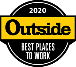 Outside's Best Places to Work 2020 badge