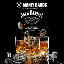Jack Daniel's Whiskey Collection with Manly Bands
