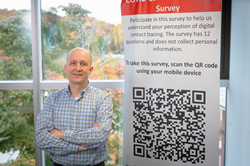 Worcester Polytechnic Institute professor Patrick Schaumont is preparing to launch a survey about concerns people have with digital contact tracing.