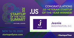 Jeenie named the .US Veteran Startup of the Year 2020
